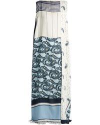 Acne Studios Robe à col bateau imprimée cachemire Dulcia - Bleu