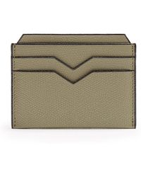 Valextra - Grained-leather Cardholder - Lyst