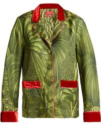F.R.S For Restless Sleepers - Ade Tahitian Jungle Print Silk Twill Shirt - Lyst