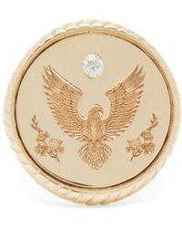 Retrouvai Honour Diamond & 14kt Gold Signet Ring - Metallic