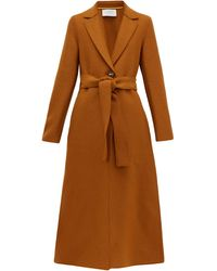 Harris Wharf London Single-breasted Pressed-wool Coat - Brown