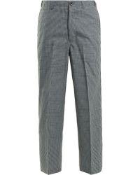 Chimala - Checked Straight Leg Wool Blend Trousers - Lyst