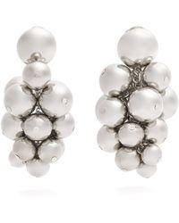 Oscar de la Renta - Sphere-embellished Cluster Clip-on Earrings - Lyst