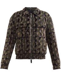 Giorgio Armani Abstract-print Velvet Jacket - Multicolor