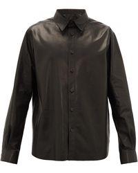 The Row デール レザーシャツ - ブラック