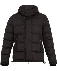 Moncler - Pyrenees Shearling-collar Down Coat - Lyst