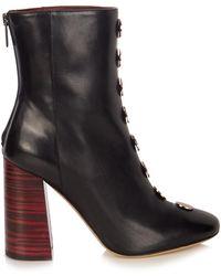 Ellery - Esmond Stud-embellished Leather Ankle Boots - Lyst