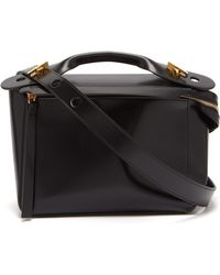 Sophie Hulme The Bolt Leather Box Bag - Black