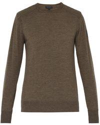 5257d8bf5ec4 Lyst - Burberry Brit Check Shoulder Cashmere Sweater in Black for Men