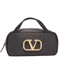 Valentino Garavani Vロゴ メイクアップバッグ - ブラック