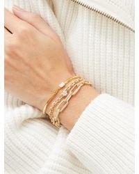 Lizzie Mandler ナイフ エッジ ダイヤモンド 18kゴールドブレスレット - メタリック