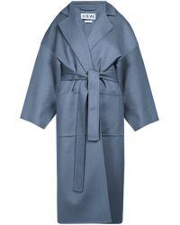 Loewe - Piacenza Oversized Wool Blend Coat - Lyst