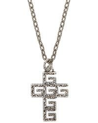 Gucci G-cross Sterling Silver Necklace - Metallic