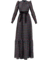 Erdem クラウディナ ポルカドットフィルクーペドレス - ブラック