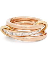 Alison Lou Anahata Diamond, Sapphire, Opal & 18kt Gold Ring - Pink