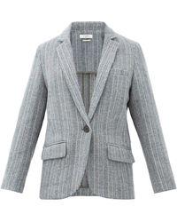 Étoile Isabel Marant Charly Single-breasted Wool Blazer - Gray