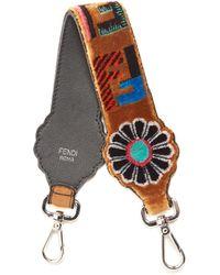Fendi - Strap You Logo-print Velvet Short Bag Strap - Lyst