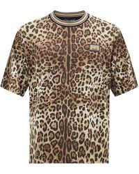 Dolce & Gabbana レオパード コットンtシャツ - マルチカラー