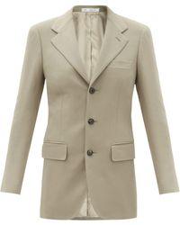 Umit Benan B+ Single-breasted Wool-blend Jacket - Grey