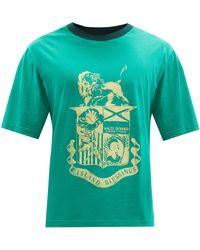 Wales Bonner ジョンソン クレスト オーガニックコットンtシャツ - グリーン
