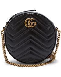 d446915f1d77 Gucci - Gg Marmont Circular Leather Cross Body Bag - Lyst