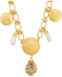 Dolce & Gabbana | Crest-embossed Necklace | Lyst