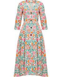 Isa Arfen Sorrento Floral-print Cotton Dress - Multicolour