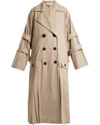 Isa Arfen - Oversized Pleated Trench Coat - Lyst