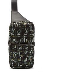 Fendi Ff And Camouflage-print Cross-body Bag - Multicolour