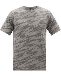 lululemon athletica Metal Vent 2.0 Printed Silverescent®-mesh T-shirt - Grey