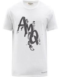 Alexander McQueen ロゴ コットンtシャツ - ホワイト