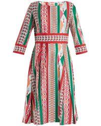 Le Sirenuse - Betty Arlechino-print Dress - Lyst