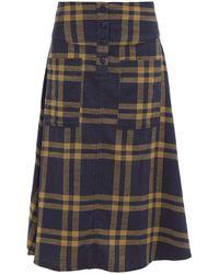 Ace & Jig Maisie Cut-out Pocket A-line Cotton Skirt - Blue