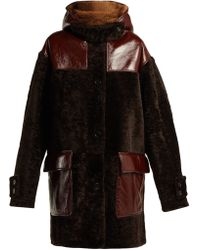 Marni - Oversized Hooded Shearling Coat - Lyst