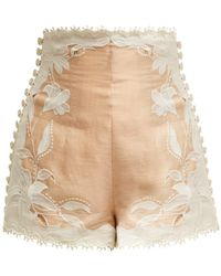 Zimmermann - Corsage Lily Lace Shorts - Lyst