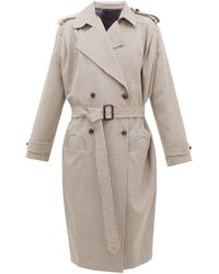 Blazé Milano Wait Houndstooth Wool-blend Coat - Brown