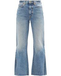 Khaite Layla High-rise Kick-flare Jeans - Blue