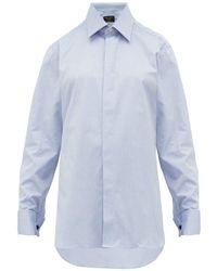 Emma Willis French Cuffed Cotton Oxford Shirt - Blue