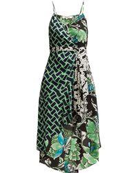4d16844e6533f Lyst - Diane von Furstenberg Short-sleeve Floral-print Flared Wrap ...