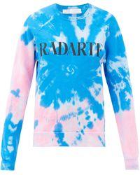 Rodarte Radarte-print Tie-dye Cotton-blend Sweatshirt - Blue