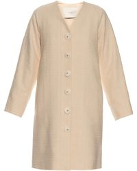 Adam Lippes | Single-breasted Cotton Coat | Lyst