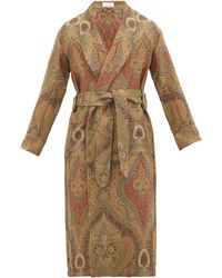 Emma Willis Antique Paisley Wool-jacquard Robe - Multicolour