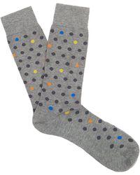 Pantherella - Saona Polka-dot Cotton-blend Socks - Lyst