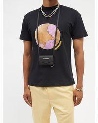 Jacquemus Porte Azur Grained-leather Cross-body Bag - Black