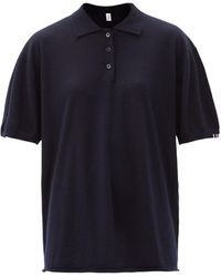 Extreme Cashmere テニス ニットポロシャツ - ブルー
