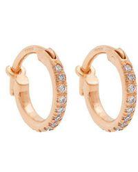 Ileana Makri - - Diamond & Rose Gold Earrings - Womens - Rose Gold - Lyst