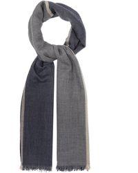 Brunello Cucinelli - カラーブロック カシミアシルク スカーフ - Lyst