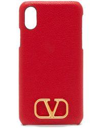 Valentino Garavani Vロゴ Iphone Xs レザーケース - マルチカラー