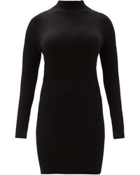 Wolford ハイネック リブニットドレス - ブラック