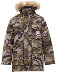 Canada Goose Expedition Camouflage-print Fur-trim Parka - Gray